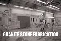 Granite stone fabrication process and polishing