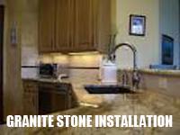granite stone installation