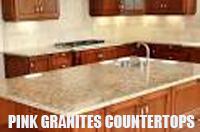 pink granites countertops