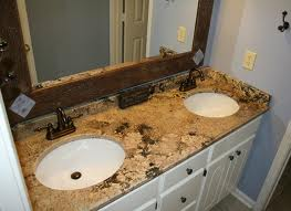 merry gold granite bathroom