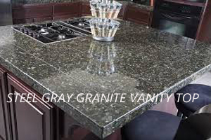 steel granite vanity tops