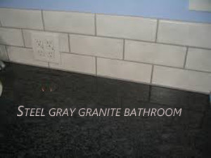 steel gray granite bathroom